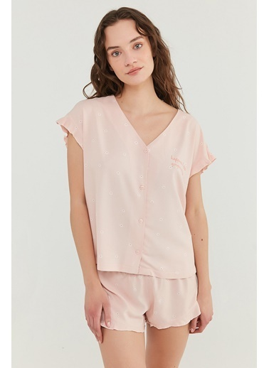 Penti Gorgeous Gömlek şort Takımı  Kadın  Pijama Takımı  Ana Kumaş Vıscose 100,00 Ana Kumaş Vıscose 100,00   Oranj